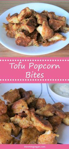 Tofu Popcorn Bites   Blooming Vegan