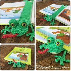 Virkat bokmärke groda, gratis mönster på Svenska   Crochet bookmark frog, free pattern in Swedish            Virkat bokmärke groda   Grönt ...