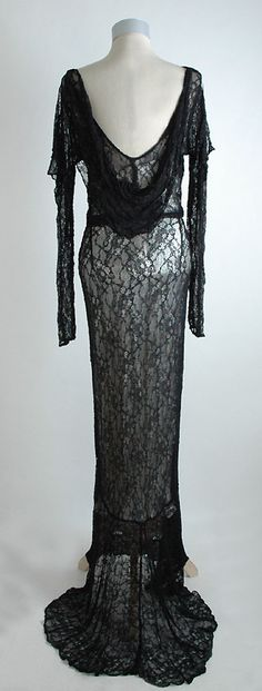 HEMLOCK VINTAGE CLOTHING : 1930's Lace Evening Gown