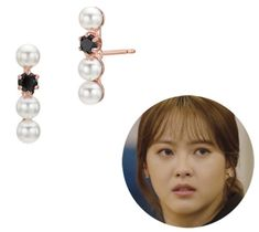 Lovcat Bijoux Stick Pearl Earrings BHSES735PRVP00 Pink Gold Plated Silver 925 (eBay Link) Korean Accessories, Drama Korea, Elegant, Jun, Pink And Gold, Kdrama, Fashion Jewelry, Pearl Earrings, Bloom