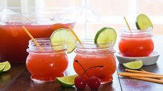 Blood Orange Rum Punch: This quick-and-easy crowd pleaser looks splendid on any serving table, and tastes like a dream gone boozy. A perfect party punch. Best Punch Recipe, Rum Punch Recipes, Drink Recipes, Party Recipes, Fun Recipes, Blood Orange Soda, Blood Orange Cocktail, Orange Punch, Orange Sherbert