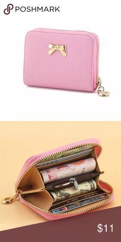 Bowknot Zipper Coin Wallet Pink Bownknot Zipper Coin Wallet Bags Wallets