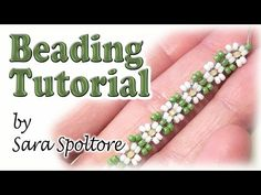 BeadsFriends: bead flowers for beginners - DIY ring, bracelet, necklace - Beading tutorial - YouTube