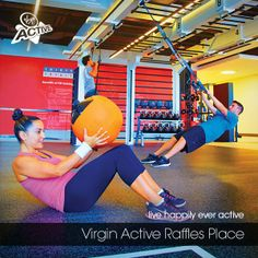 Neoflex Reco Rubber Fitness Flooring for Queenax Area @ Virgin Active, Raffles Place, Singapore