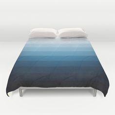 Geometric 09 Duvet Cover  #geometric, #blue, #palette, #abstract, #textures,