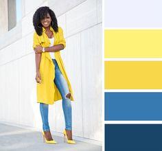 8 роскошных сочетаний с желтым цветом