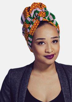 Pre sewn / Loop fastener / african prints turban / head