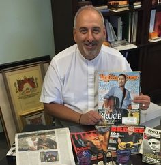 Niskayuna priest Stepanos Doudoukjian will be holding a Bruce Springsteen retreat and is hoping for an appearance from 'The Boss' himself .