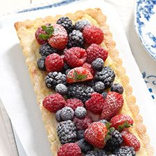 Berries and Creme Tart: King Arthur Flour...calls for KAF Pastry Cream available on the KAF website- a great item to have on hand even when you aren't in a time crunch to pull together a cream filling for pies/tarts/tartlets.