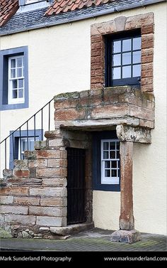 Cottage with External Staircase, St Monans, Fife Scotland. Very unique sight to see. Fife Scotland, Scotland Travel, Beautiful Islands, Beautiful Places, External Staircase, Take The High Road, British Isles, Architecture Details, The Good Place