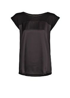 top with satin insert by Mango