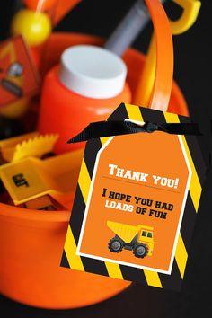 instant download DIY Construction Zone Birthday by GardellaGlobal, $4.00