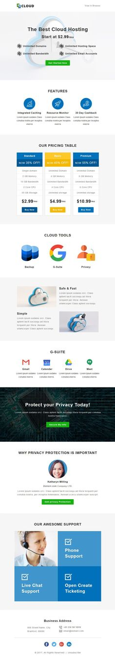 Hosting, Server, Domain, Cloud, Whois, Simple, Corporate, Responsive, Mailchimp, Campaign-monitor, Stampready, Creative, Modern, Business, Professional, Pricing, Mymail, Newsletter, Agency Mail Chimp Templates, Campaign Monitor, Responsive Email, Email Client, Google Fonts, Email Templates, Wordpress Plugins, Background Images, Clouds