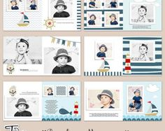10x10 Baby Album Templates Photobook Photoshop by TiramisuDesign