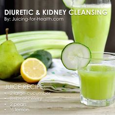 Kidney Cleanse Detox 5 Things to Avoid for a Healthy Kidney and A Juice Recipe to Repair It - Juicing For Health - Eating a diet that is high in refined/table salt may cause kidney and gallbladder stones, but the minerals from this juice is… Healthy Juice Recipes, Healthy Juices, Healthy Smoothies, Healthy Drinks, Smoothie Recipes, Cleanse Recipes, Tumeric Smoothies, Salad Recipes, Celery Recipes