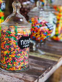 Dazzle your guests with a colorful candy bar! This sugary, sweet surprise is sure to leave your guests wanting more.