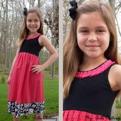 Design Your Own T-shirt Dress for Girls. To cute!!! #children #dress #t-shirt #fabric