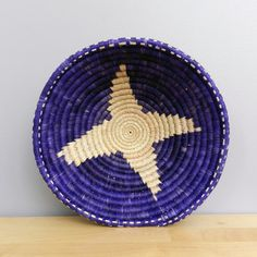 Handwoven Basket Purple Basket African Basket Purple by Ubushobozi