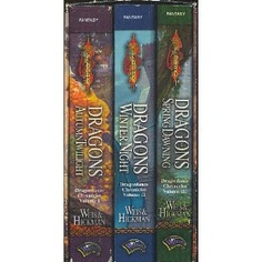 Dragonlance Series- Tracy Hickman and Margaret Weis. All of the DragonLance books written by these 2 authors are very worth reading!