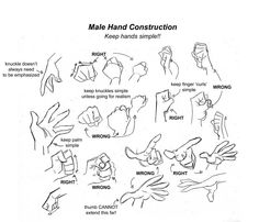 hand construction ✤ || CHARACTER DESIGN REFERENCES | Find more at https://www.facebook.com/CharacterDesignReferences if you're looking for: #line #art #character #design #model #sheet #illustration #expressions #best #concept #animation #drawing #archive #library #reference #anatomy #traditional #draw #development #artist #pose #settei #gestures #how #to #tutorial #conceptart #modelsheet #cartoon #hand