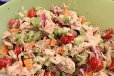Recipes for chicken salad are only as good as the chicken itself. If the chicken is dry or flavorless, no amount of dressing, mayo or seasoning will camouflage it. Greek Recipes, Diet Recipes, Cooking Recipes, Tarragon Chicken, Greek Dishes, Food Tasting, Chicken Salad Recipes, Salad Bar, Vegetable Salad