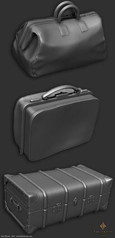 ArtStation - Luggage props for The Order 1886, Alec Moody