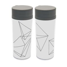 Plastic Insulated Modern Abstract Cute Kids Water Bottles 300ml Gift BPA Free Personalized Black White Shape Geometric Drinkware