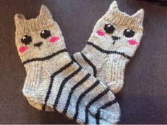 käsitöitä ja lasi viiniä: Miu mau Knitting For Kids, Knitting Projects, Baby Knitting, Knitting Patterns, Knit Mittens, Knitted Blankets, Knitting Socks, Crochet Needles, Knit Crochet