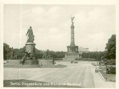 Siegessäule und Bismarck Denkmal..1925