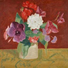 Sybil Craig, Still Life: Flowers on a Draped Table