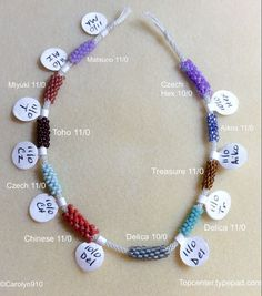 Explanation of different size beads and how they look and how many needed for one inch in kumihimo braiding