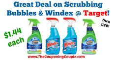 Awesome savings, definitely stock up worthy these are always nice to have on hand when you go to clean! Great Deal on Scrubbing Bubbles + Windex @ Target!  Click the link below to get all of the details ► http://www.thecouponingcouple.com/great-deal-on-scrubbing-bubbles-windex-target/ #Coupons #Couponing #CouponCommunity  Visit us at http://www.thecouponingcouple.com for more great posts!
