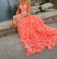 Sexy Beaded Prom Dress 2014 Graduation Dress New Peach Prom Dresses, Prom Dress 2014, High Low Prom Dresses, Beaded Prom Dress, Grad Dresses, Homecoming Dresses, Strapless Dress Formal, Evening Dresses, Formal Dresses