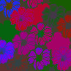Floral - Green & Pink & Blue | Flickr - Photo Sharing!