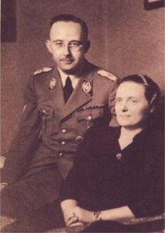 Heinrich Himmler and his wife Marga