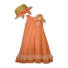 jcp | Bonnie Jean® Dress and Hat Set - Preschool Girls 4-6x