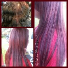 Removed black color dye and had red hot roots, but results were amazing. @ Toni's Hair Studio 8135167892