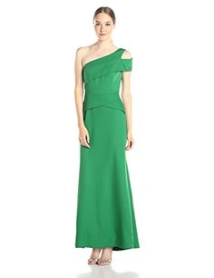 BCBGMaxAzria Annely Woven One Shoulder Evening Dress, Malachite - http://www.womansindex.com/bcbgmaxazria-annely-woven-one-shoulder-evening-dress-malachite/