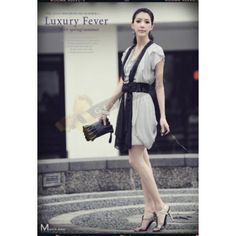 Flowy Multi Layer Dress in Grey $49.90 at at www.Glamorazzi.com.au