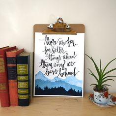 Hand Lettered & Watercolor Art Print C.S. Lewis Quote by AprylMade
