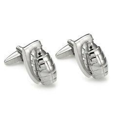 R&B Schmuck Herren Manschettenknöpfe Edelstahl - Armee Style, Granaten, Ausgefallen (Silber): 17,90€