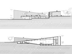 06 Auditorium Architecture, Theatre Architecture, Auditorium Design, Architecture Panel, Architecture Details, Modern Architecture, Parque Linear, Architecture Concept Drawings, Architectural Section