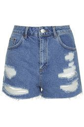 MOTO Vintage Ripped Mom Shorts