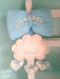 Fiocco Nascita Baby Boy - cloud  itommasini4u.blogspot.it www.facebook.com/itommasini4u