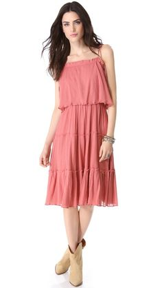 Love Sam Tiered Gauze Dress at @Shopbop