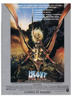 Heavy Metal Movie Poster Advertisement 1981 by SingingSignPost, $9.00