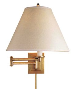 "Primitive, 14""H, shade 5""x12""x9"", 100 watt hi low, hand rubbed antique brass"