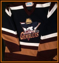 GREEN BAY GAMBLERS ALPHA STITCHED HOCKEY JERSEY YOUTH SMALL FREE SHIPPING #Alpha #NATIONALHOCKEYLEAGUE