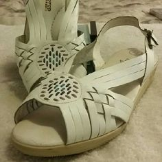 """Air Step, white leather, wedge. White leather, Air Step, wedge. (1-1/2"""")  Very comfortable and easy to walk in. Great condition. Air Step Shoes Wedges"""
