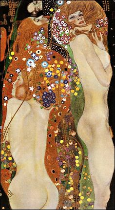 Water Serpents II, c.1907 by Gustav Klimt. I think I have 3 Klimpt books, love the expressive creativity and how he push the boundaries of art and design.